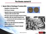 the greeks started it