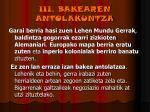 iii bakearen antolakuntza