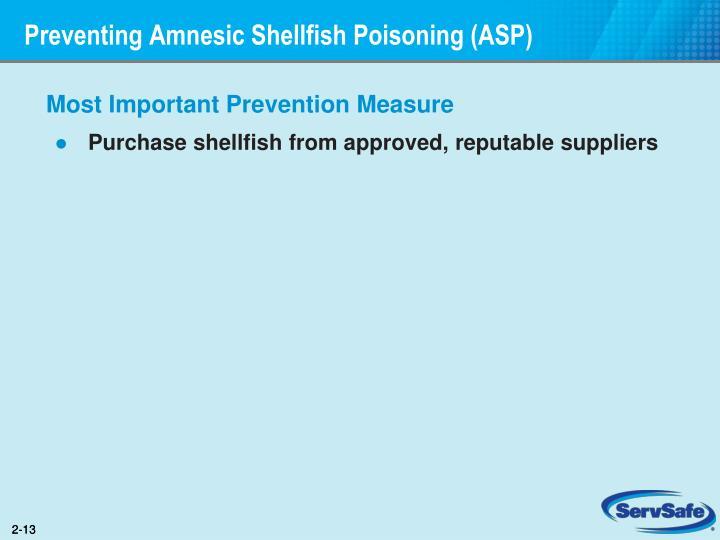 Preventing Amnesic Shellfish Poisoning (ASP)