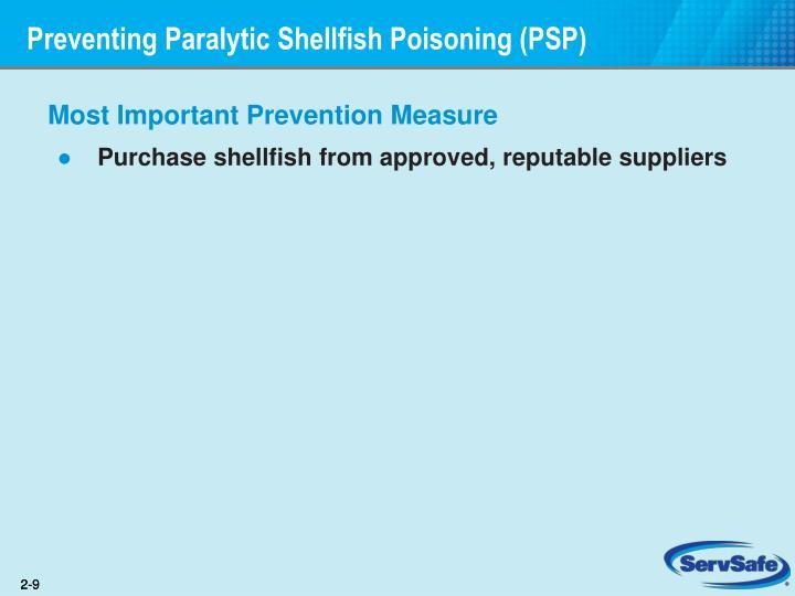 Preventing Paralytic Shellfish Poisoning (PSP)