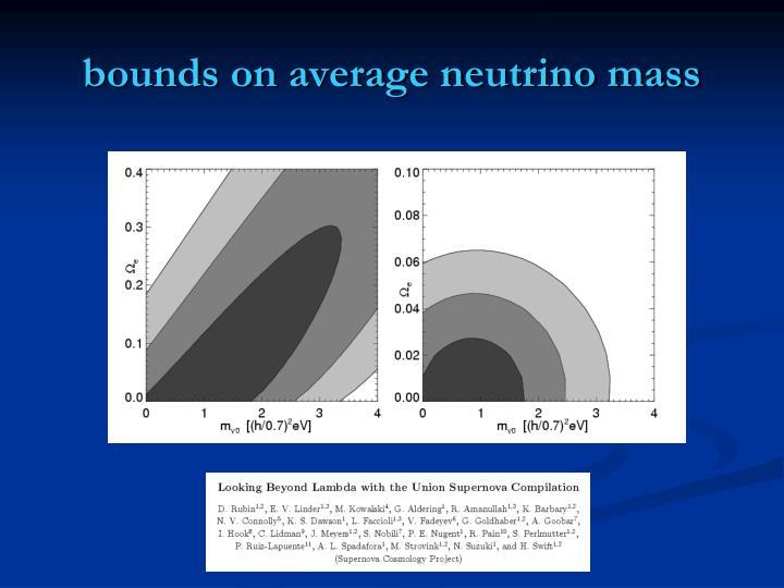 bounds on average neutrino mass