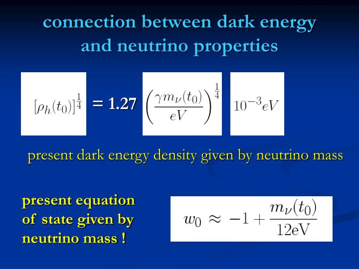 Connection between dark energy and neutrino properties
