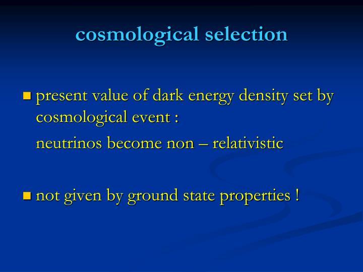 cosmological selection