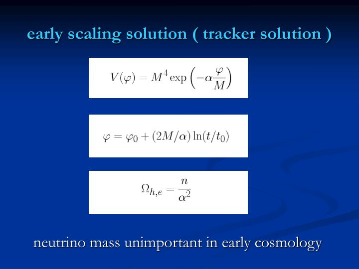 early scaling solution ( tracker solution )