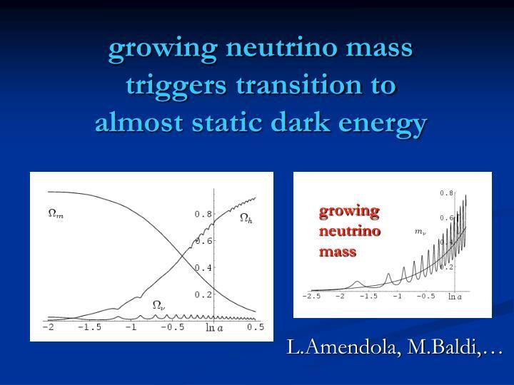 growing neutrino mass