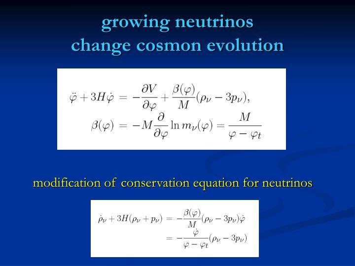 growing neutrinos