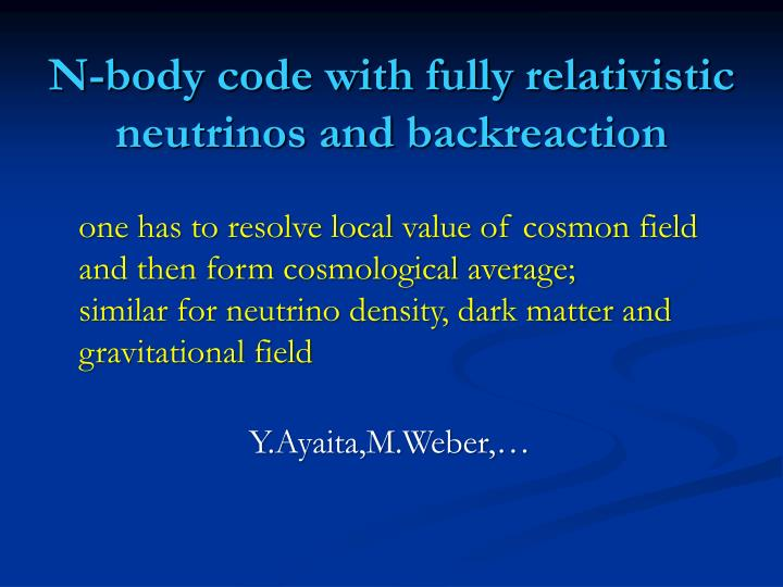 N-body code with fully relativistic neutrinos and
