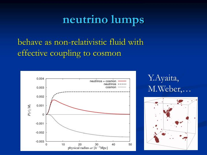 neutrino lumps