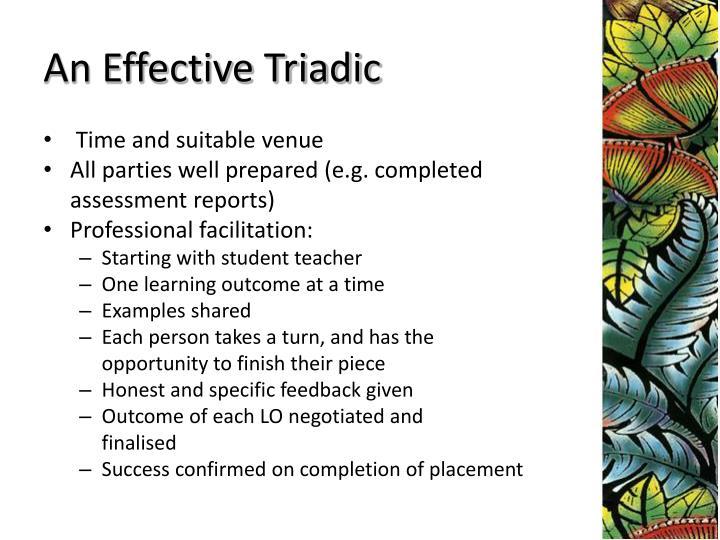 An Effective Triadic