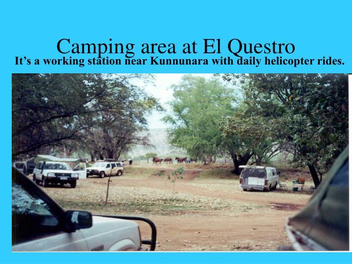 Camping area at El Questro
