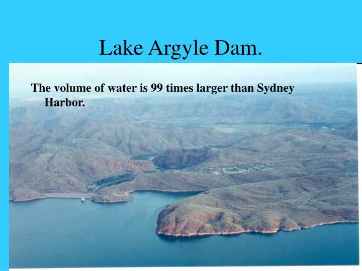 Lake Argyle Dam.
