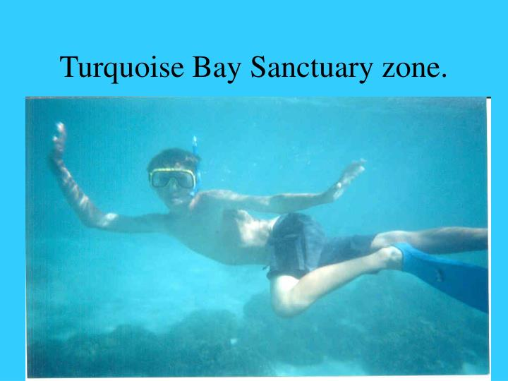 Turquoise Bay Sanctuary zone.
