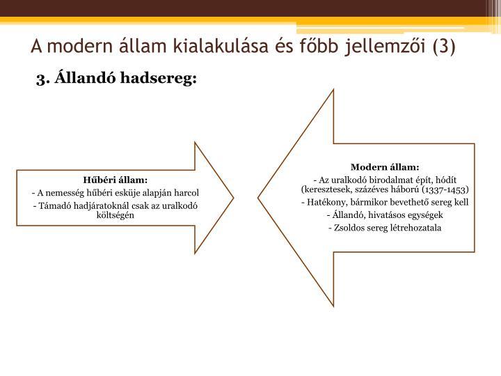 A modern állam kialakulása és főbb jellemzői