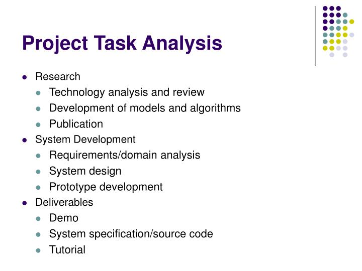 Project Task Analysis