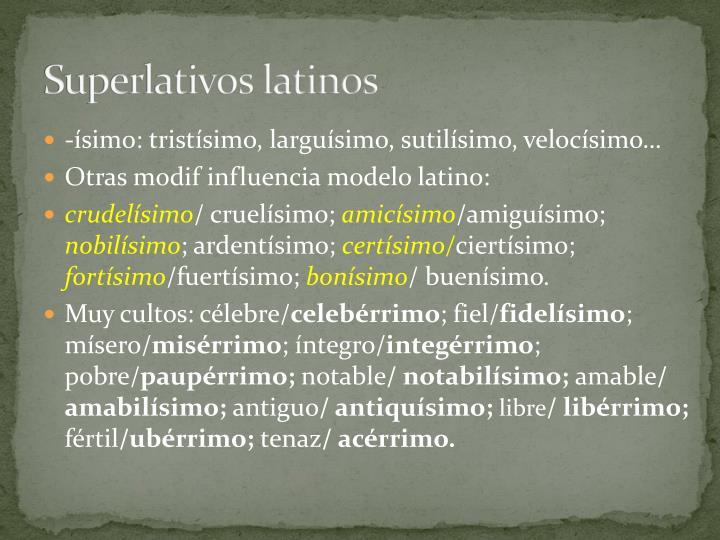 Superlativos latinos