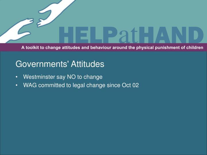 Governments' Attitudes
