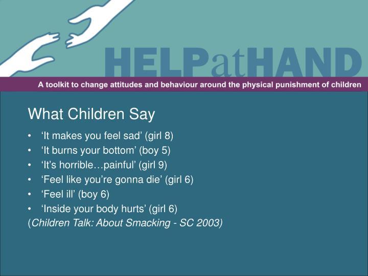What Children Say