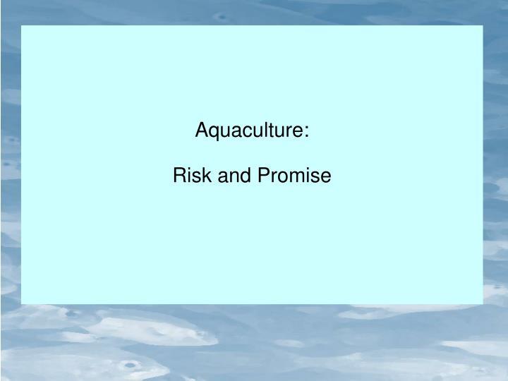 Aquaculture: