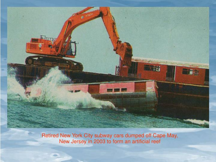 Retired New York City subway cars dumped off Cape May,
