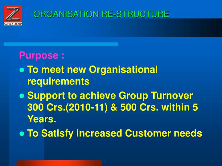 Organisation re structure2
