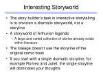 interesting storyworld