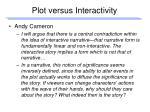 plot versus interactivity