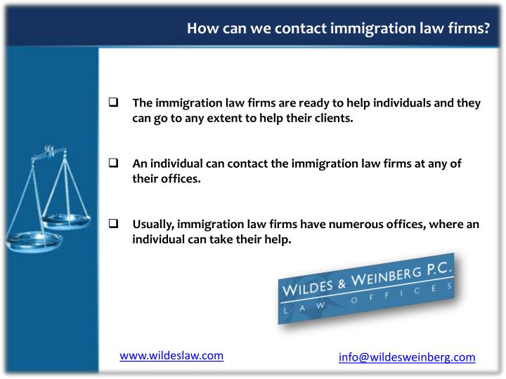 How can we contact immigration law firms?