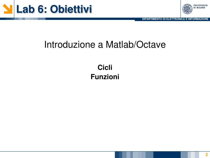 Lab 6 obiettivi