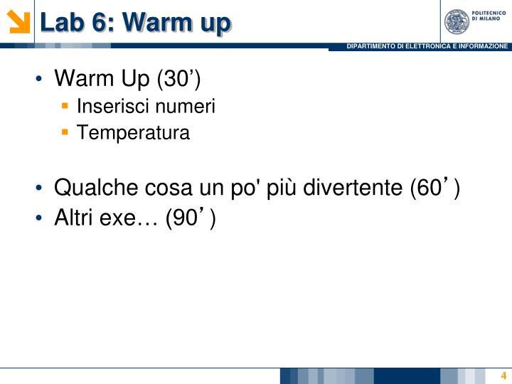 Lab 6: Warm up