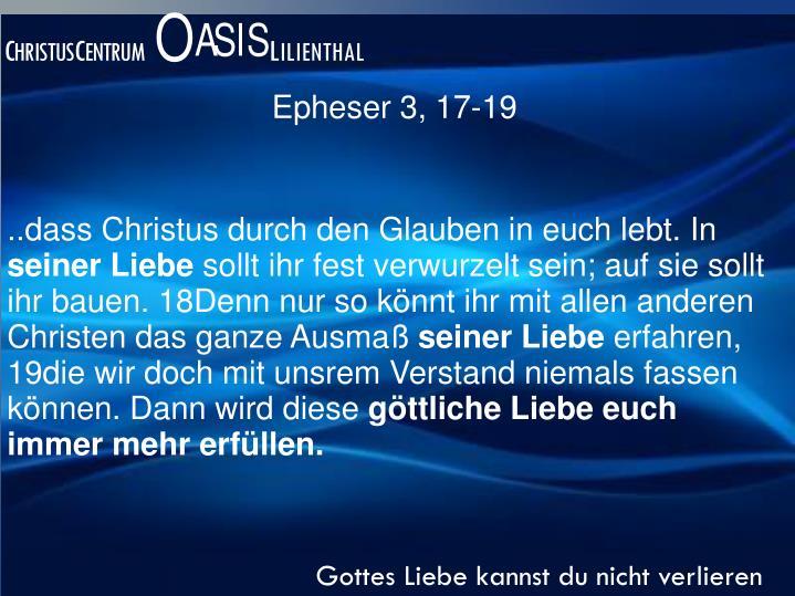Epheser 3, 17-19