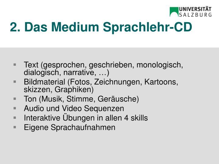 2. Das Medium Sprachlehr-CD