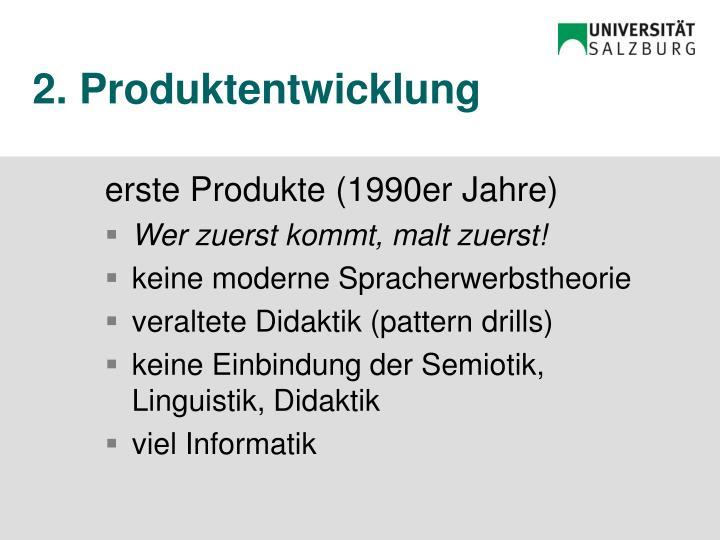 2. Produktentwicklung
