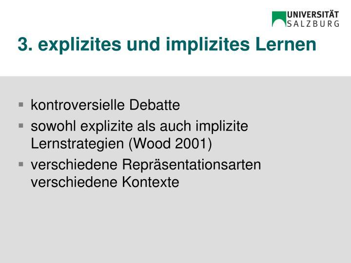 3. explizites und implizites Lernen