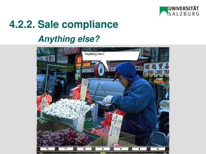 4.2.2.Sale compliance