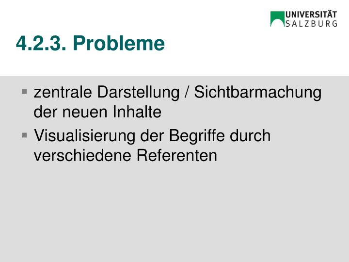 4.2.3. Probleme