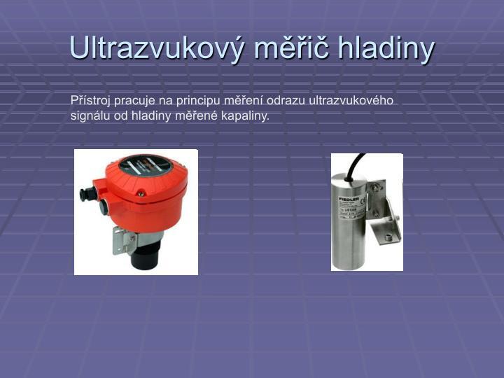 Ultrazvukový měřič hladiny