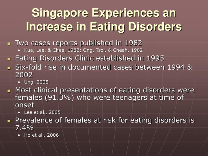 Singapore Experiences an Increase in Eating Disorders