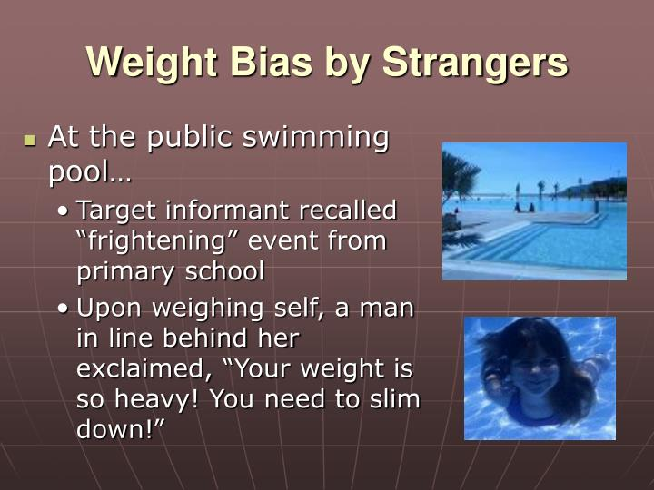 Weight Bias by Strangers