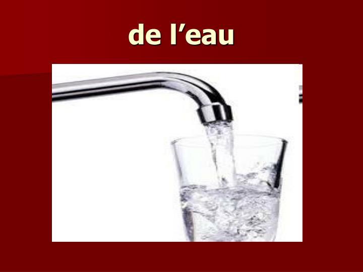 de l'eau
