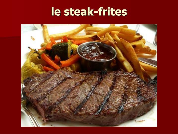 le steak-frites