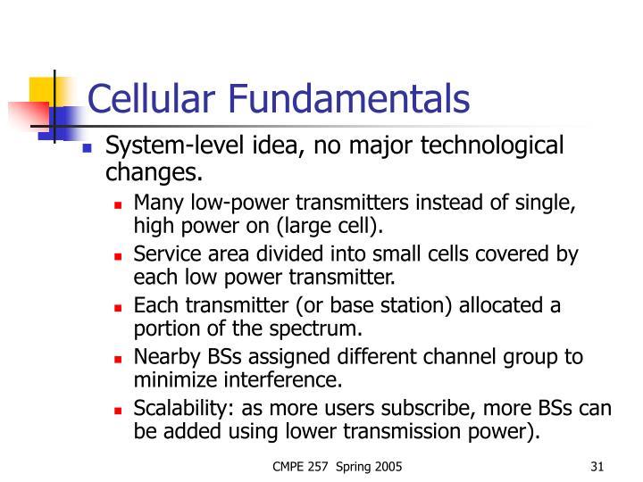 Cellular Fundamentals