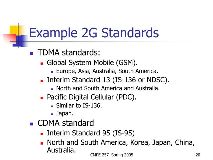 Example 2G Standards