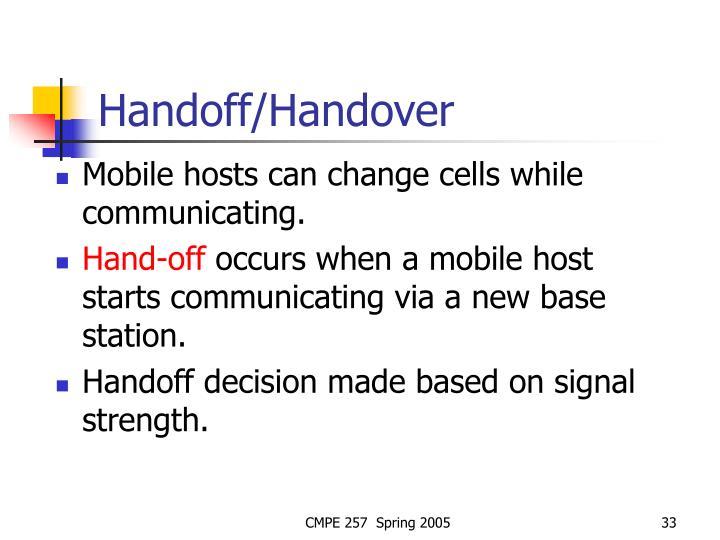Handoff/Handover