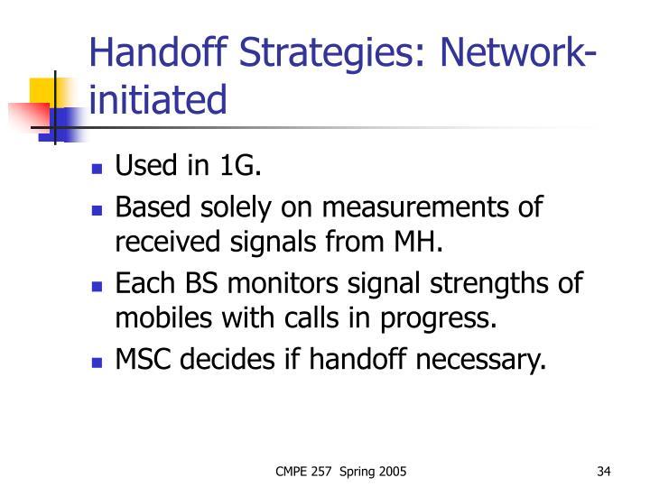 Handoff Strategies: Network-initiated