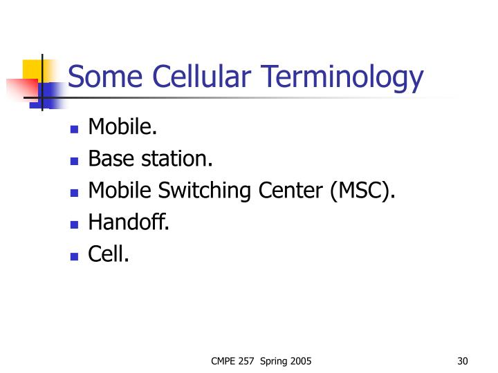 Some Cellular Terminology