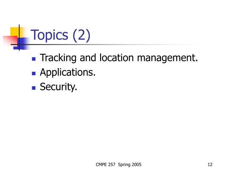 Topics (2)