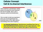 cellular concept cell co channel interference