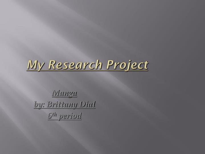my research project n.