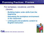 promising practices p review