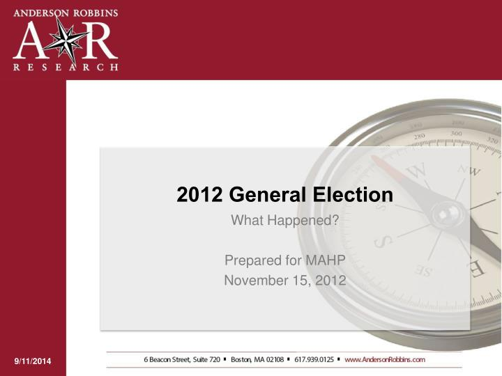 2012 general election